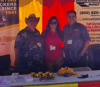 Left to right: Rudy Navarrete, WSTA, Katrina Johnson, WP Fueling, and Victor Vasquez, WSTA.